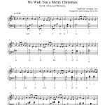 We Wish You A Merry Christmastraditional Piano Sheet Music   Free Christmas Sheet Music For Keyboard Printable