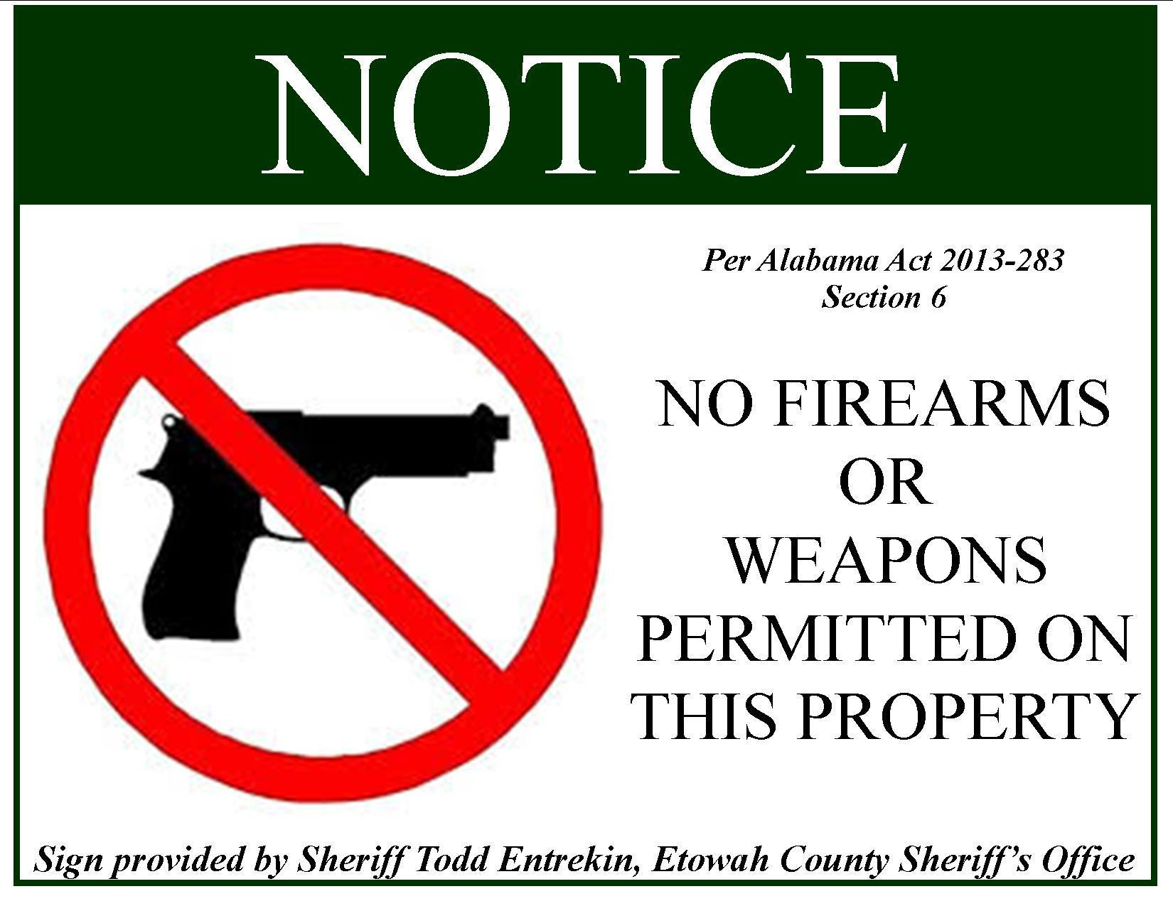 Weapons Signs Printable Allowed No - Free Printable No Guns Allowed Sign