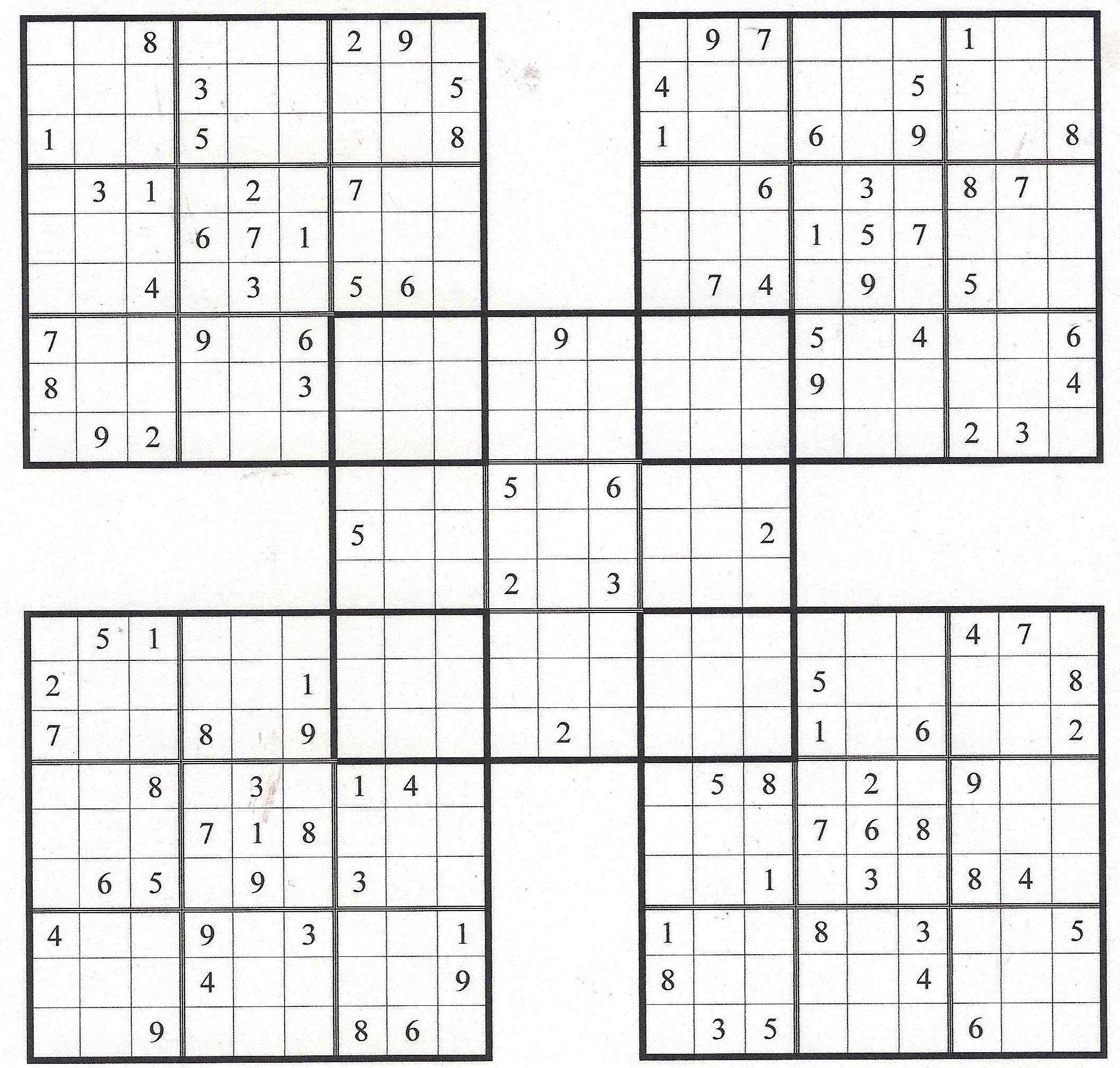 Web Sudoku - Ecosia - Free Printable Samurai Sudoku