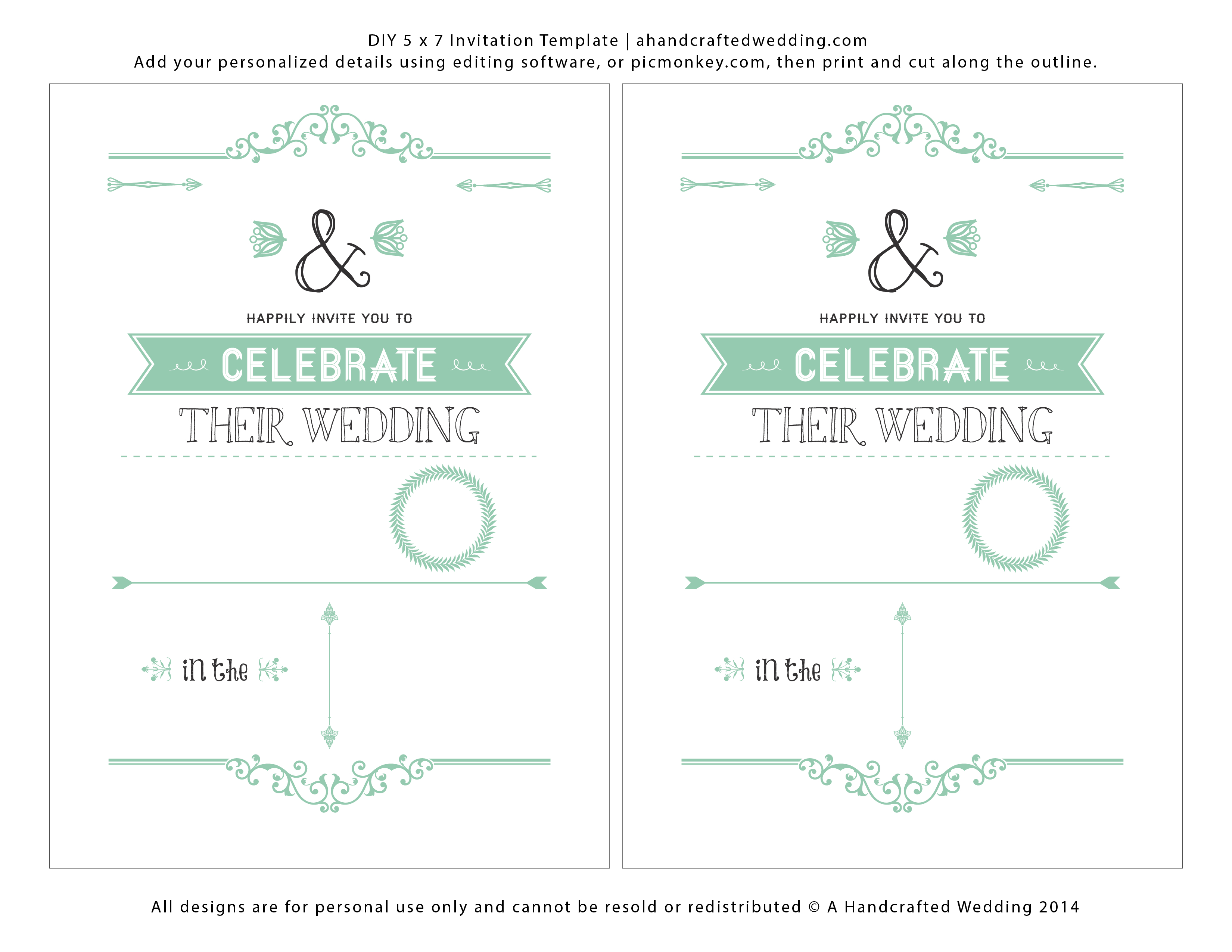 Wedding Invitation Templates Free Download | Marina Gallery Fine Art - Free Printable Wedding Invitations Templates Downloads