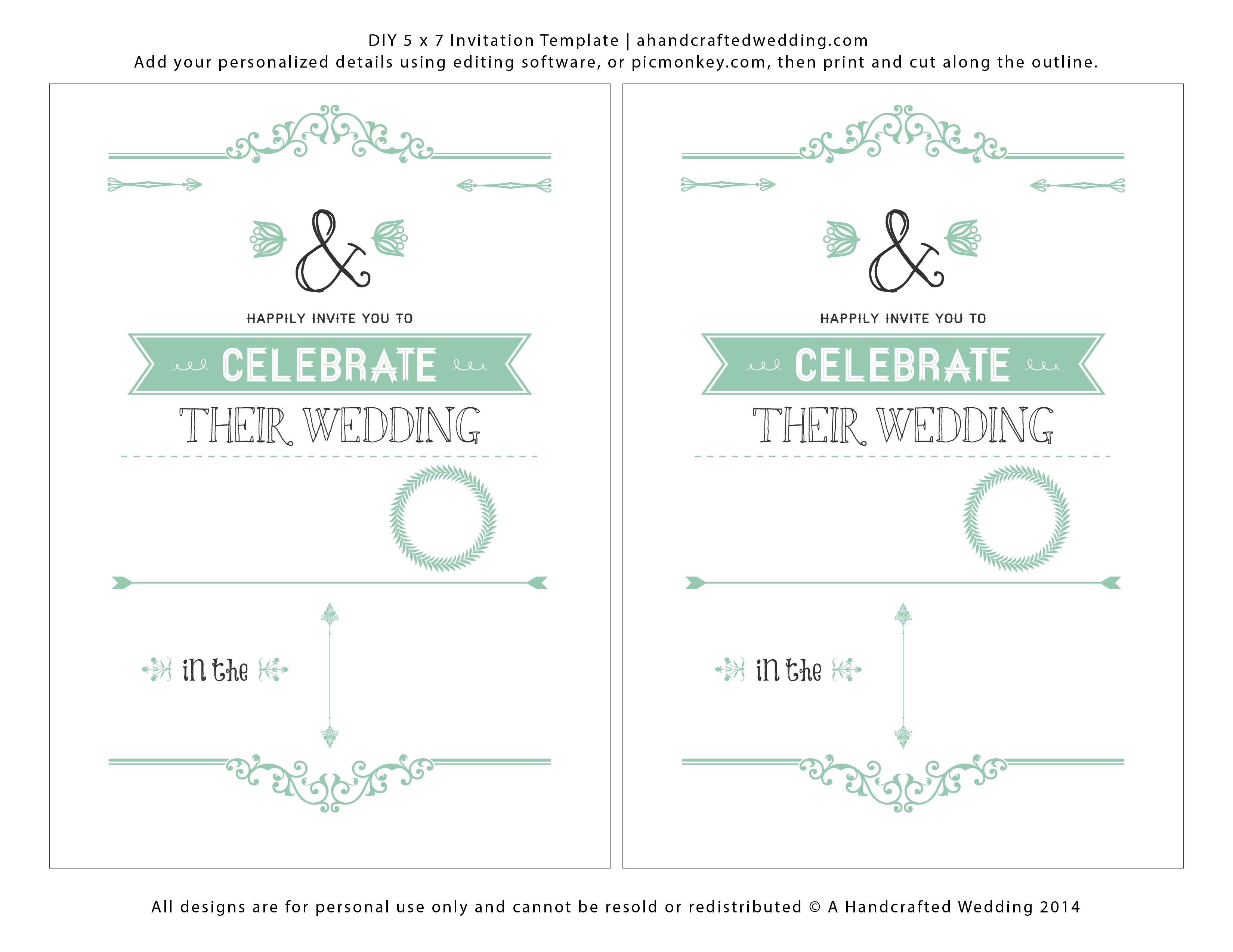 Wedding Invitation Templates Free Download   Marina Gallery Fine Art - Printable Invitation Templates Free Download
