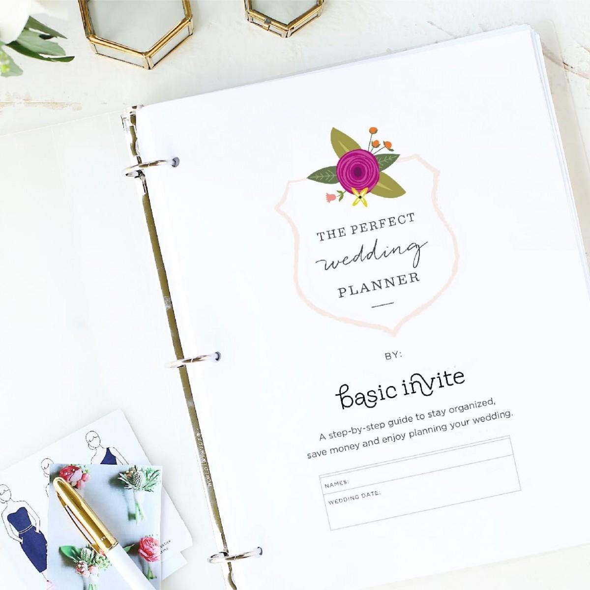 Wedding Planner Printablebasic Invite - Free Printable Wedding Planner
