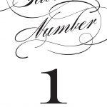 Wedding Table Numbers | Printable Pdfbasic Invite   Free Printable Table Numbers 1 20
