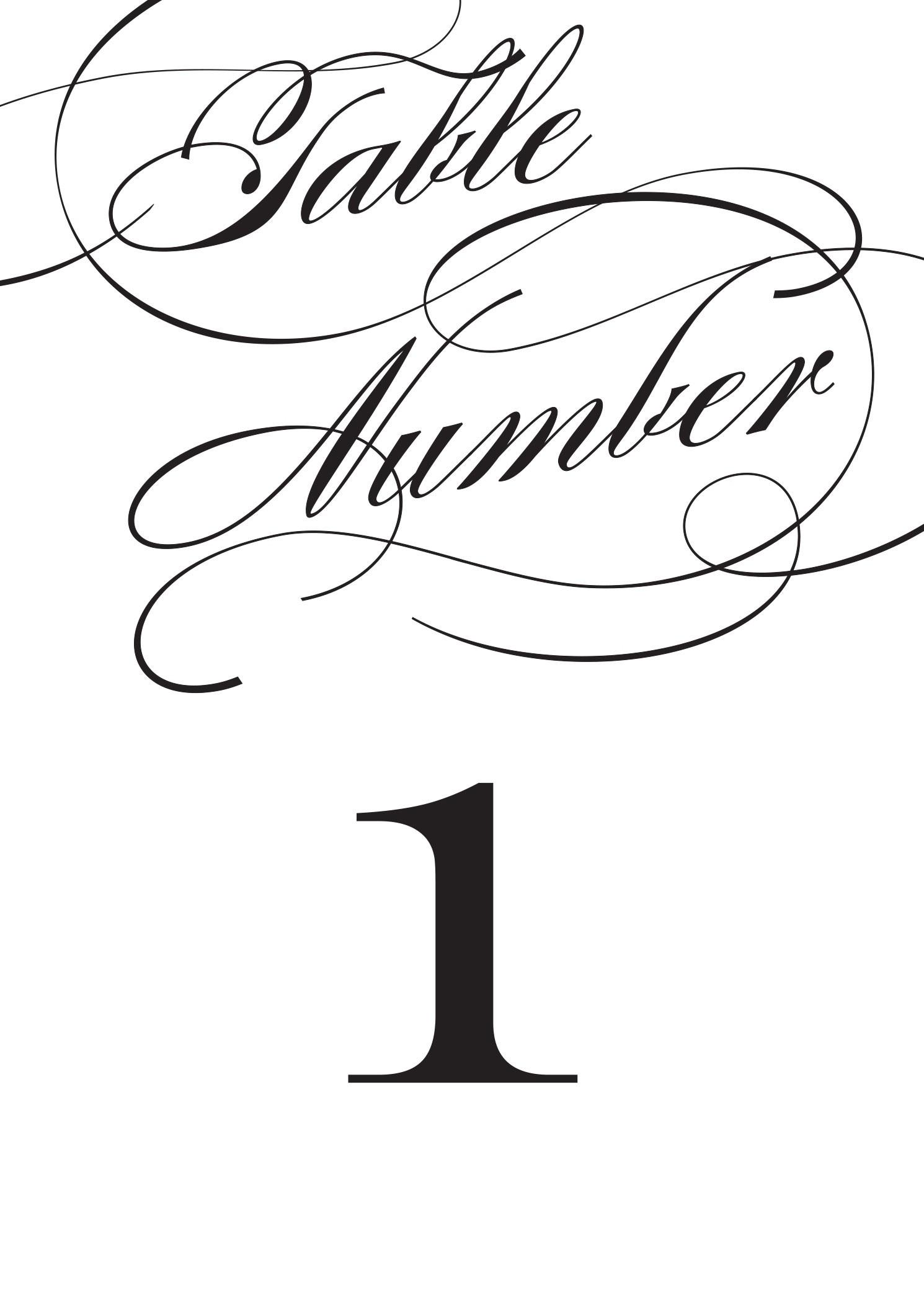 Wedding Table Numbers   Printable Pdfbasic Invite - Free Printable Table Numbers 1 20