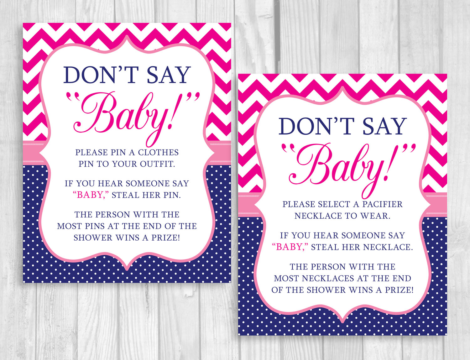 Weddingssusan: Printable Don't Say Baby! 8X10 Clothes Pin Or - Pin The Dummy On The Baby Free Printable