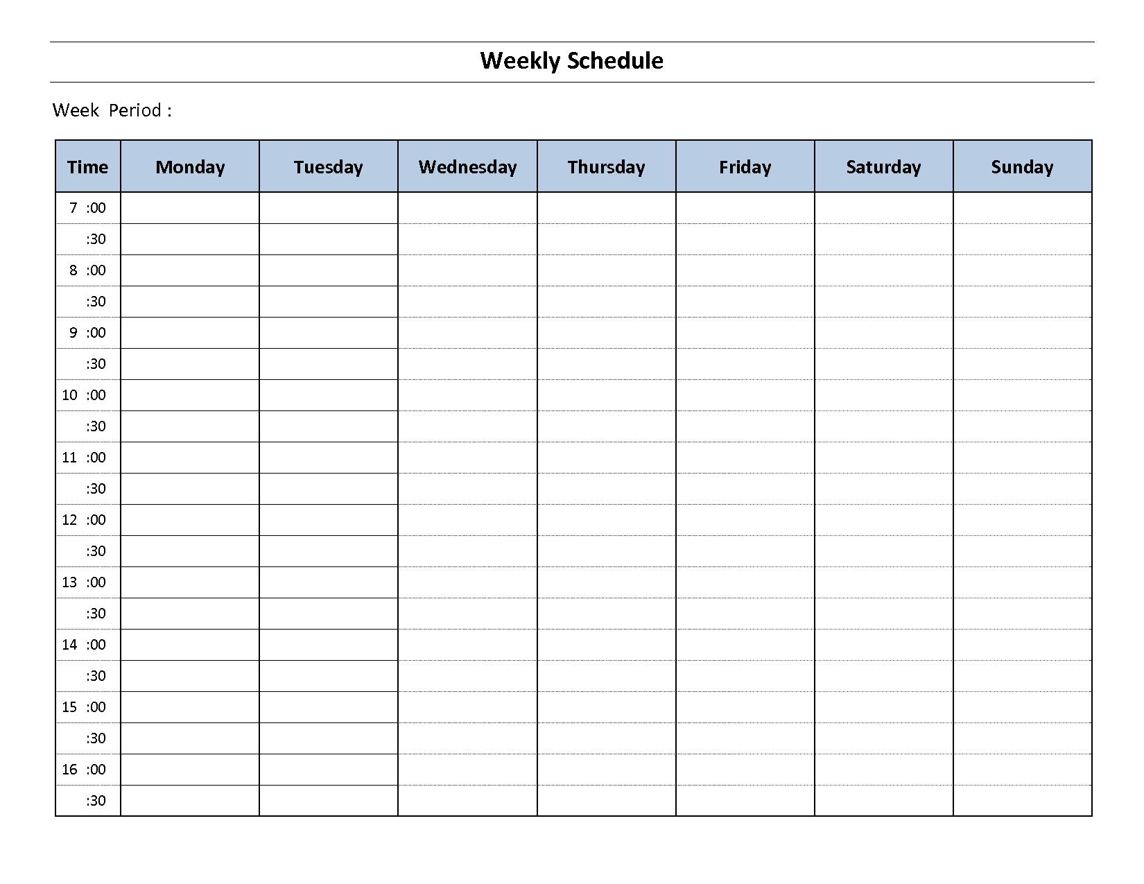 Weekly Hourly Planner E Word Beautiful Schedule Pdf Blank Calendar - Free Printable Blank Weekly Schedule