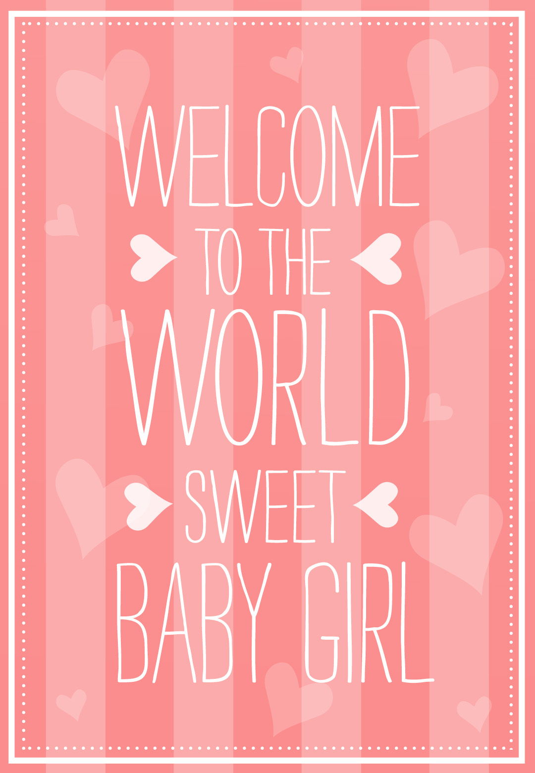 Welcome To The World - Free Baby Shower & New Baby Card   Greetings - Free Printable Welcome Cards