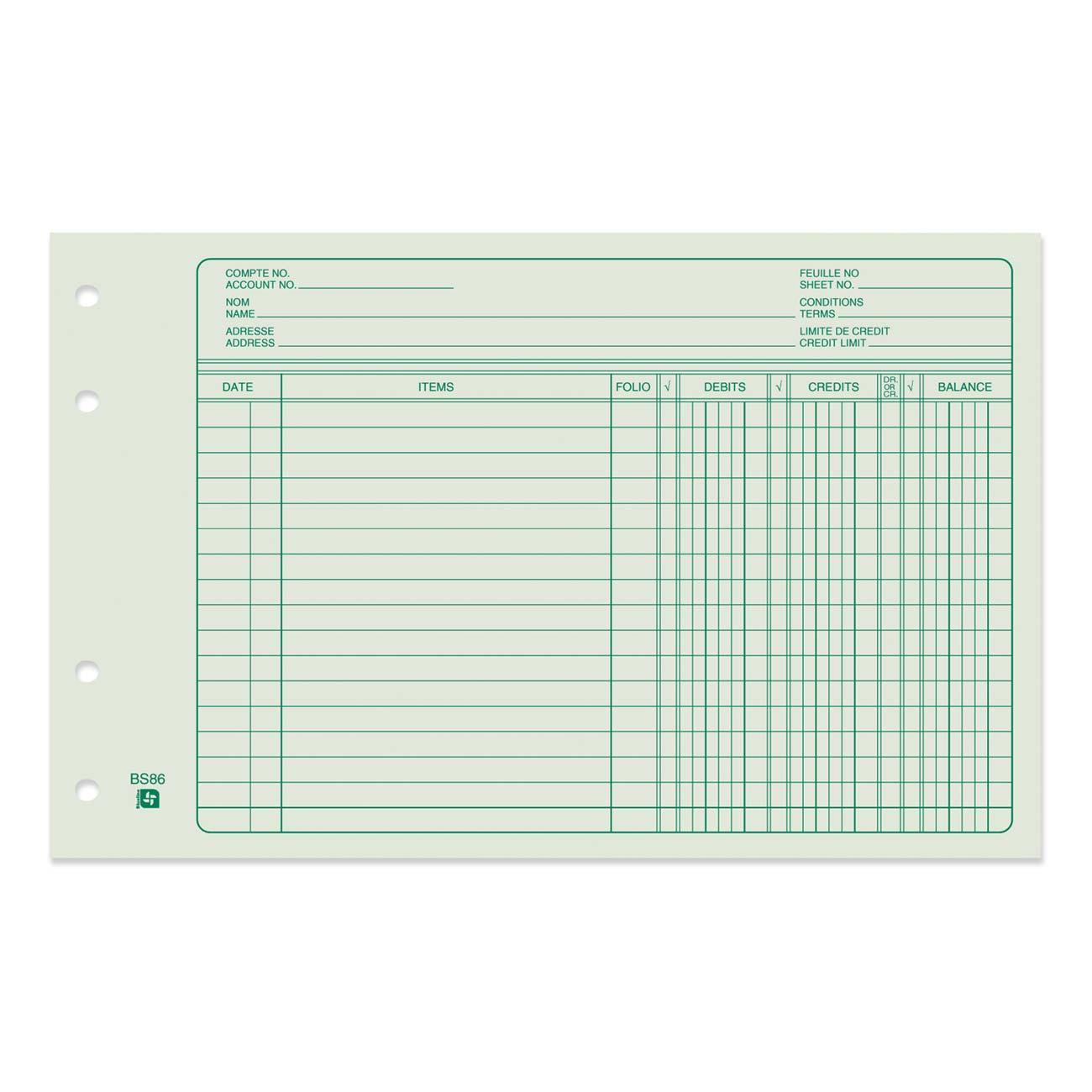 West Coast Office Supplies :: Office Supplies :: Binders - Free Printable 4 Column Ledger Paper