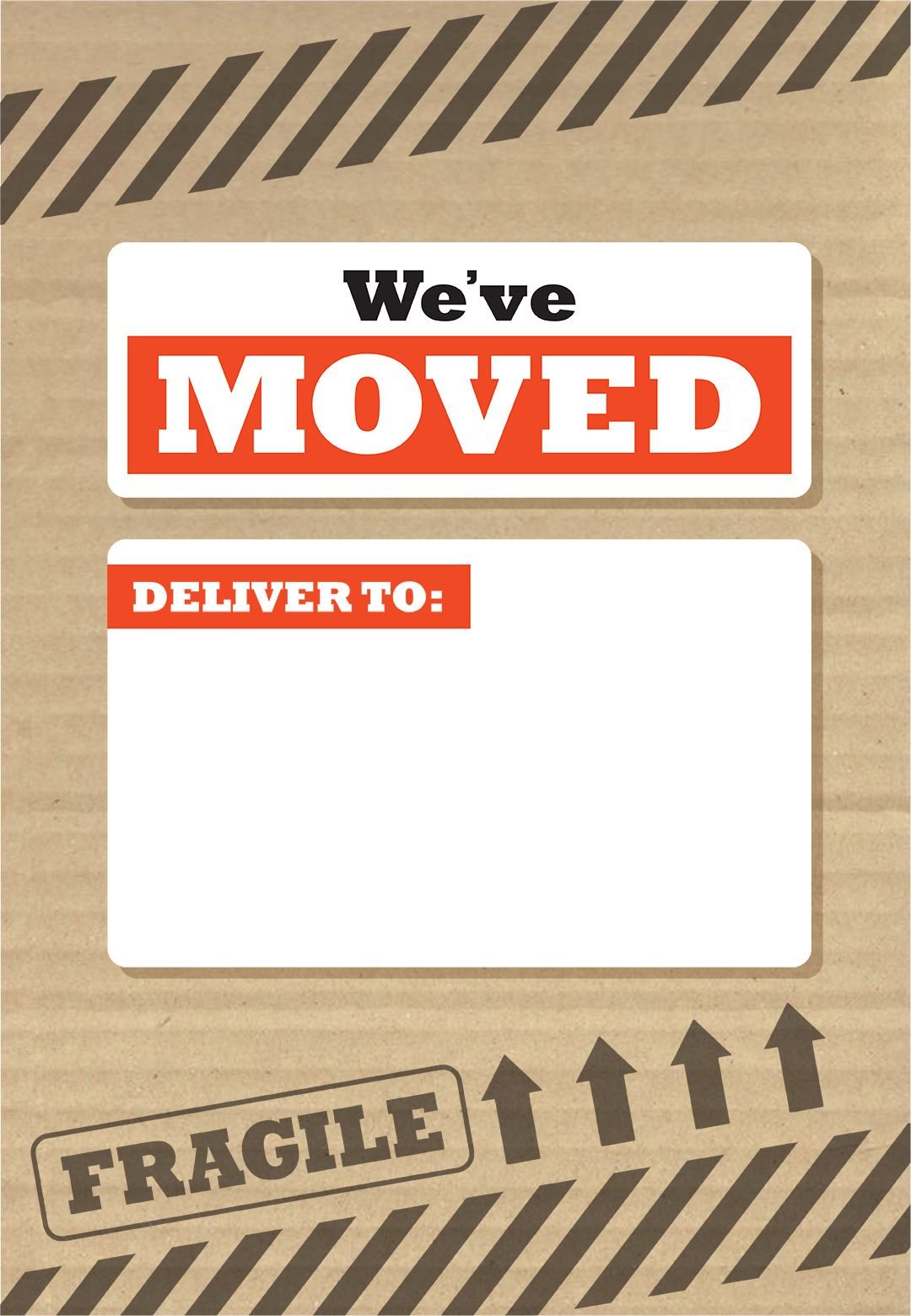 We've Moved Box - Free Printable Moving Announcement Template - Free Printable Moving Announcement Templates