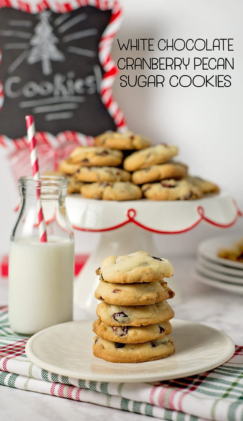 White Chocolate Cranberry Pecan Sugar Cookies W/ Printable Recipe - Free Printable Dessert Recipes