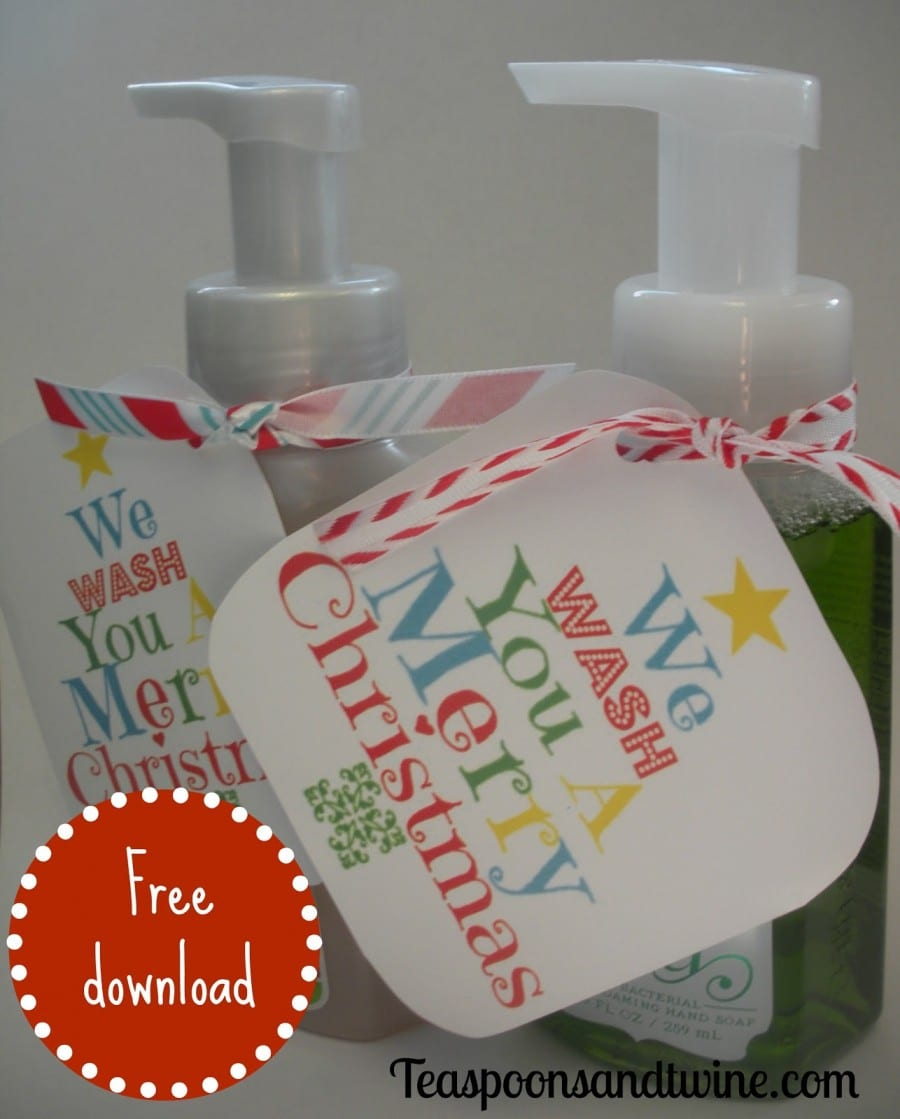Why Soap Is The Only Present You Need This Christmas! - A Girl And A - We Wash You A Merry Christmas Free Printable