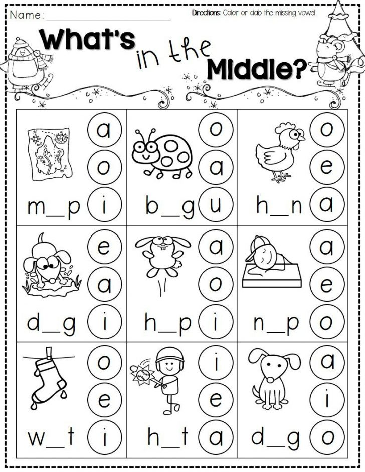 Free Printable Sheets For Kindergarten