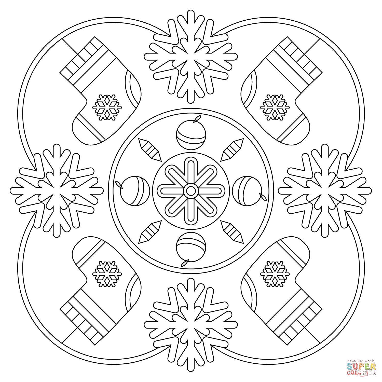 Winter Mandala Coloring Page   Free Printable Coloring Pages - Mandala Coloring Free Printable