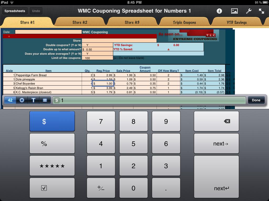 Wmc Couponing Spreadsheet Program | As Seen On Extreme Couponing - Free Printable Coupon Spreadsheet