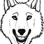 Wolf Face Coloring Pages To Print | Coloring For Kids 2018 With Free   Free Printable Wolf Face Mask