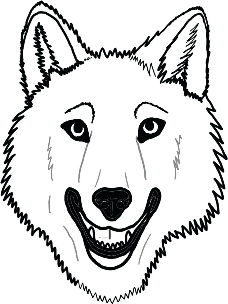 Wolf Face Coloring Pages To Print   Coloring For Kids 2018 With Free - Free Printable Wolf Face Mask
