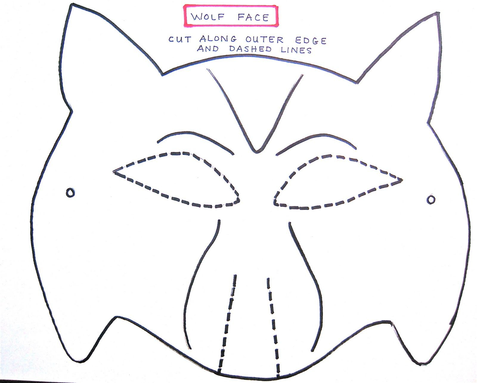 Wolf Mask Template For Preschoolers   Making The Wolf Mask   Kids - Free Printable Wolf Face Mask