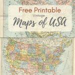Wonderful Free Printable Vintage Maps To Download   Pillar Box Blue   Free Printable Vintage Pictures