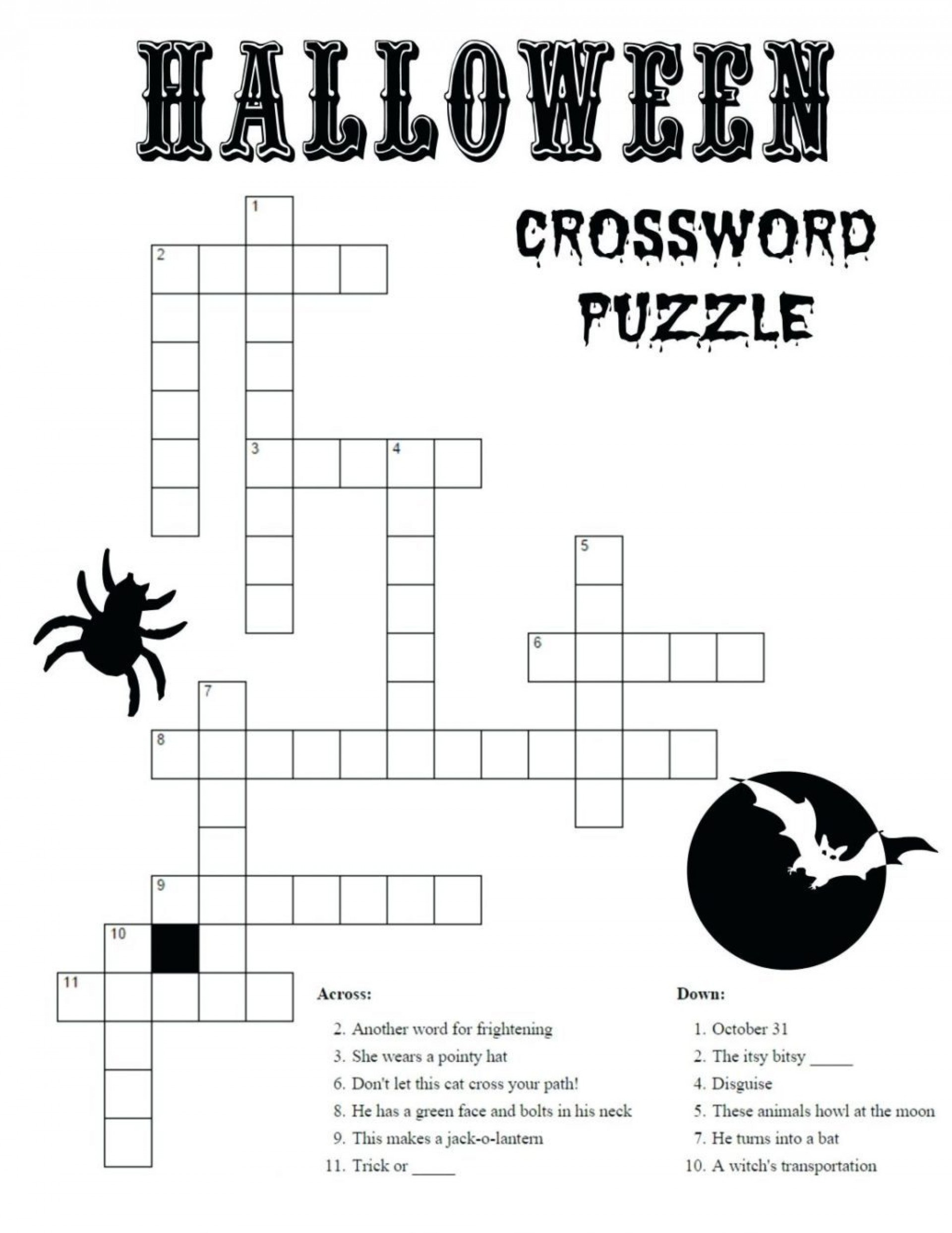 Wonderful Halloween Crossword Puzzle Maker ~ Themarketonholly - Jigsaw Puzzle Maker Free Online Printable