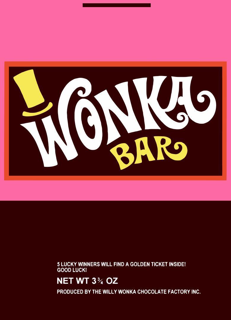 Wonka Wrapper | Willy Wonka - Free Printable Wonka Bar Wrapper Template