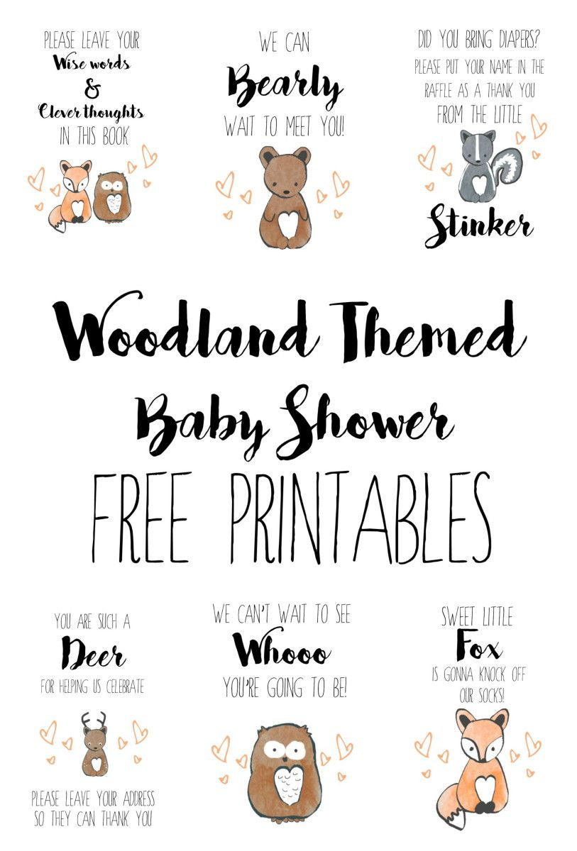 Woodland Baby Shower Free Printables | Baby Showers - Baby Invitations Printable Free