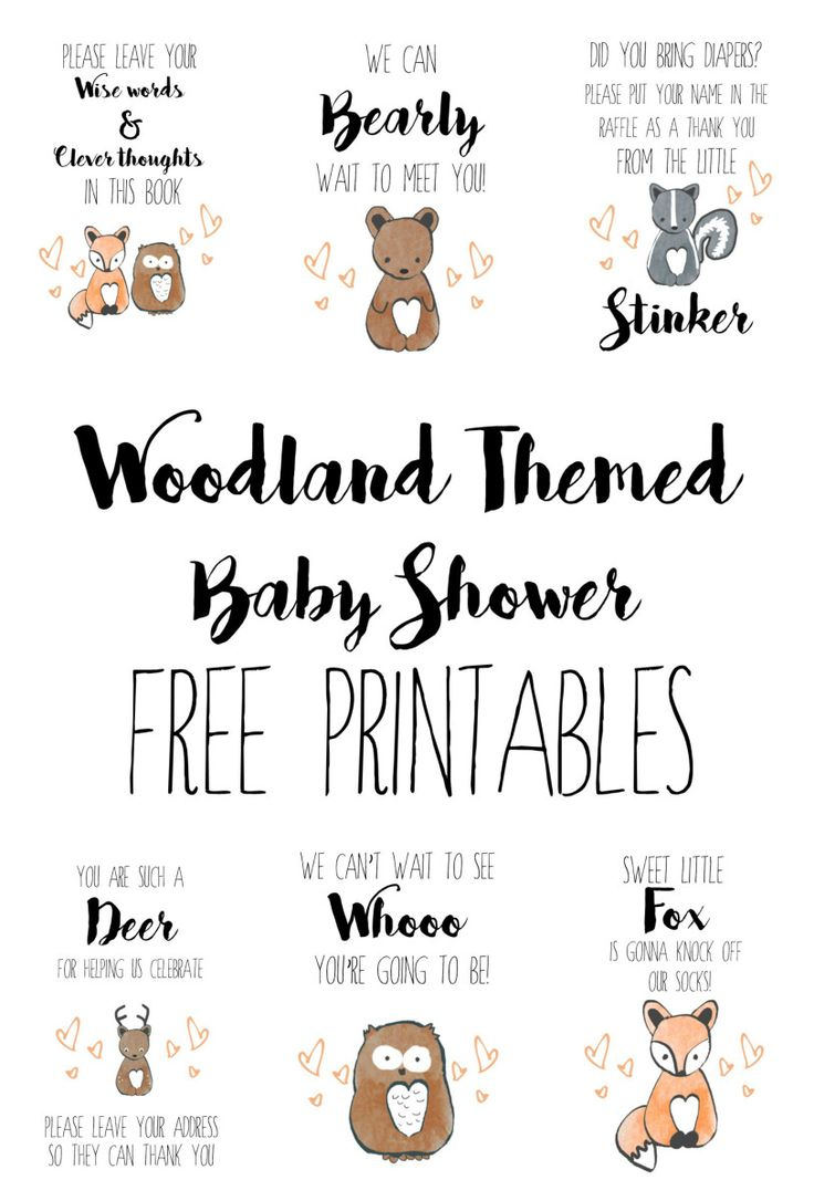 Woodland Baby Shower Free Printables | Party | Free Baby Shower - Free Printable Pictures Of Baby Animals