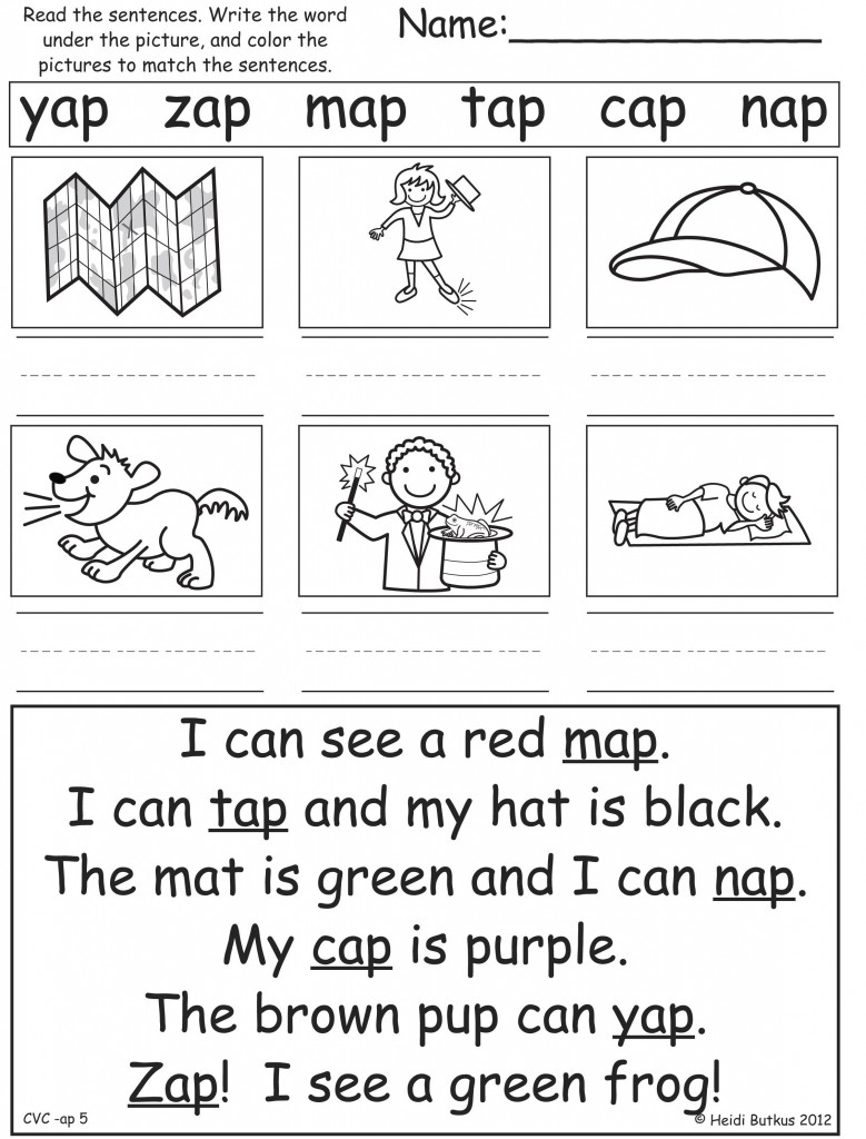 Word Family Worksheets For First Grade Free Printables Worksheet - Free Printable Word Family Worksheets For Kindergarten