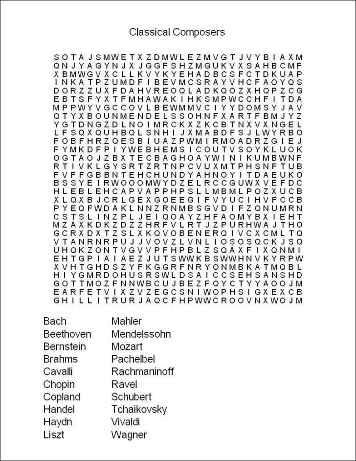 Free Printable Word Searches For Adults