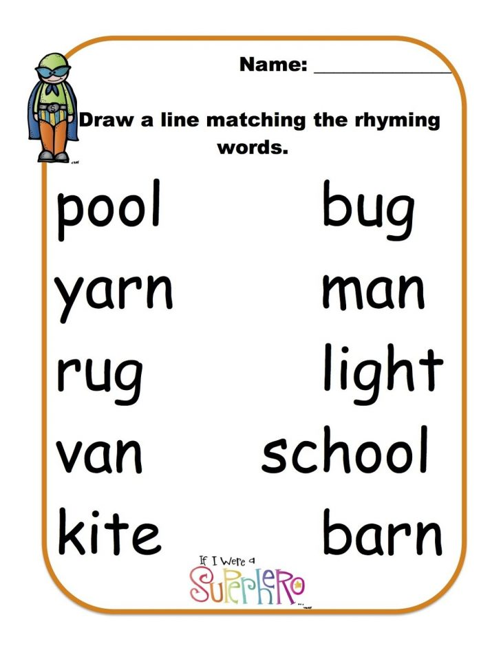 Free Printable Rhyming Words