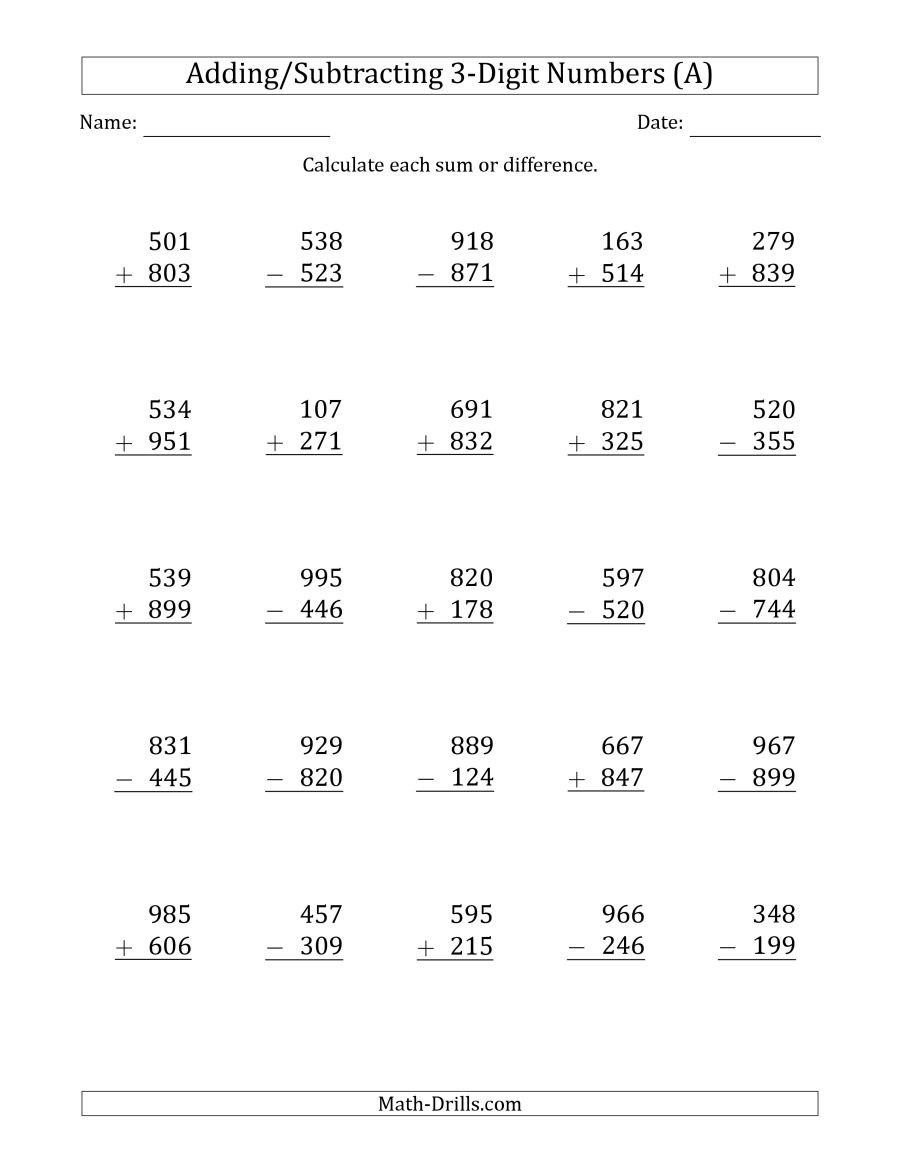 Worksheet. 3 Digit Addition And Subtraction Worksheets. Worksheet - Free Printable Double Digit Addition And Subtraction Worksheets