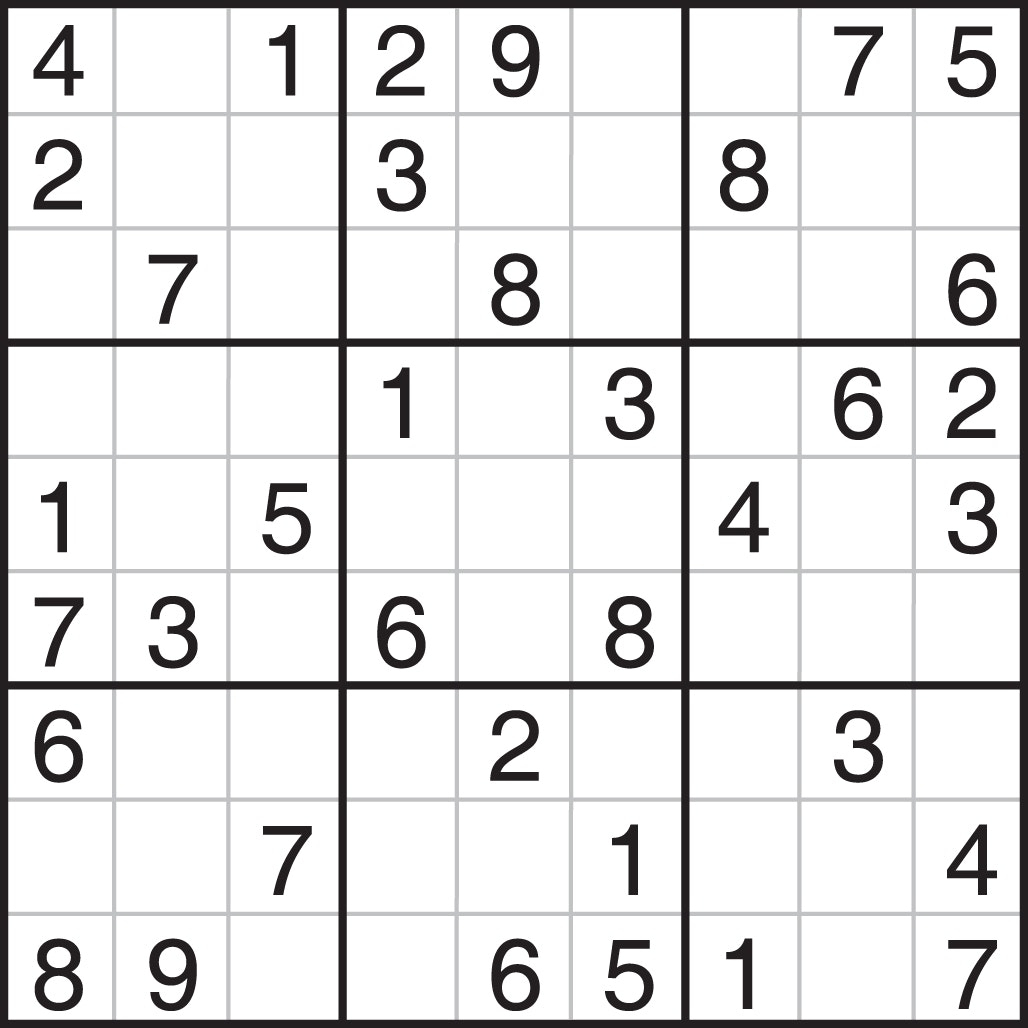 graphic regarding Printable Sudoku Puzzles 6 Per Page named Printable Sudoku Medium