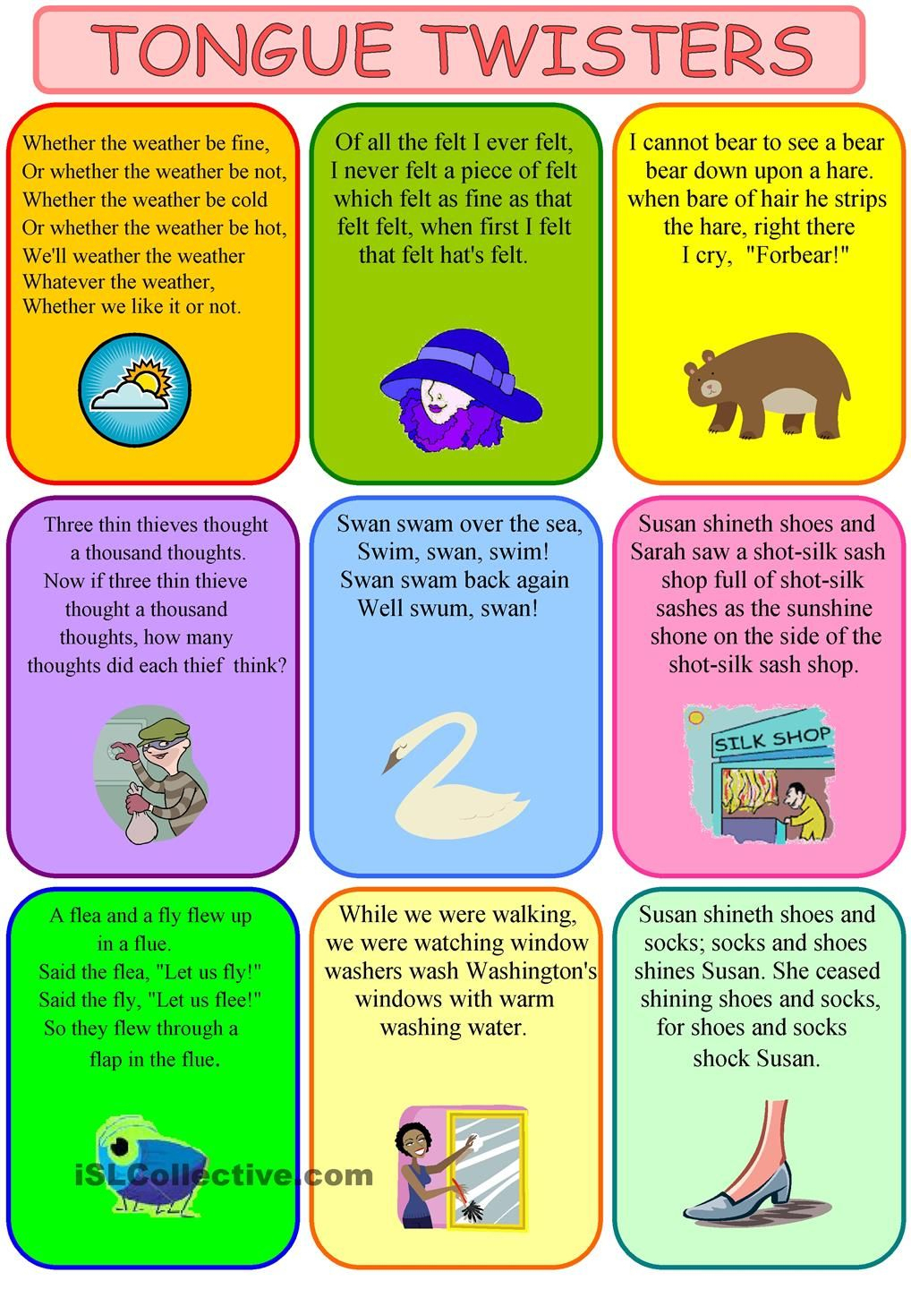 Worksheet Tongue Twister Images-I Love That My Kiddos Are Getting - Free Printable Tongue Twisters