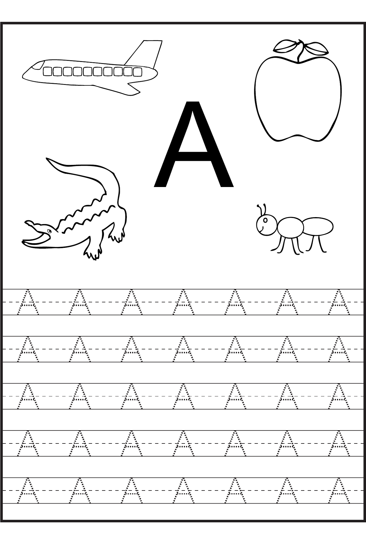 Worksheets Pages : Preschool Alphabet Tracing Worksheets Free - Free Printable Alphabet Pages