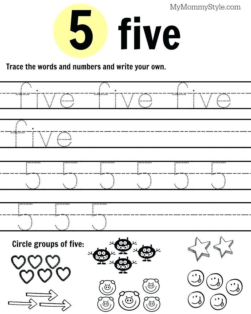 Worksheets Pages : Printable Number Worksheets For Kindergarten - Free Printable Number Worksheets