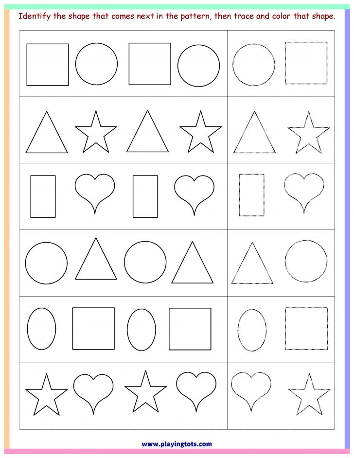 Free Printable Toddler Learning Worksheets