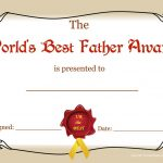 Worlds Greatest Mom And Dad Awards | Free Printable Best Father   Free Printable Best Daughter Certificate