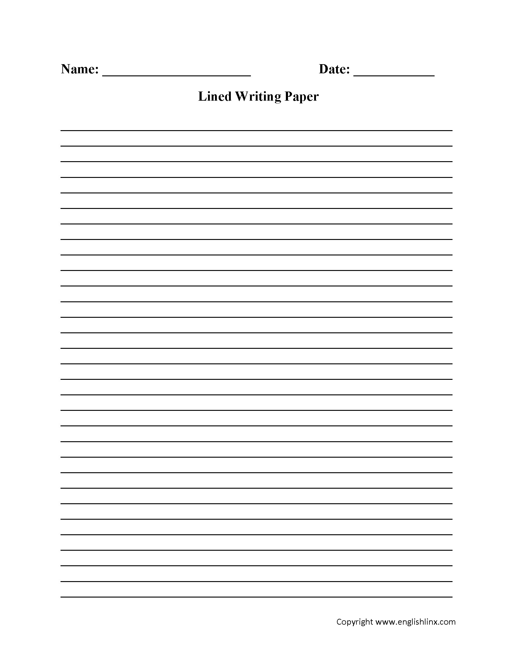 Writing Worksheets | Lined Writing Paper Worksheets - Free Printable Writing Paper For Adults