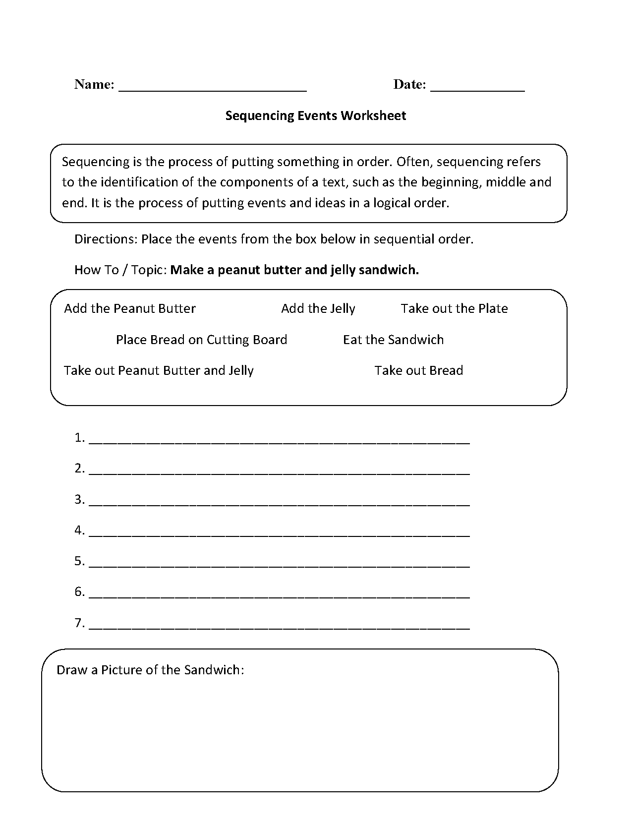 Writing Worksheets | Sequencing Worksheets - Free Printable Sequencing Worksheets 2Nd Grade