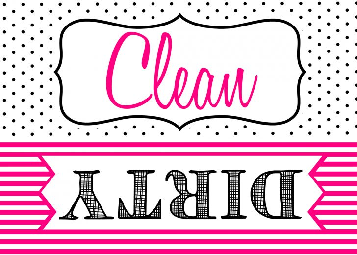 Free Printable Clean Dirty Dishwasher Sign