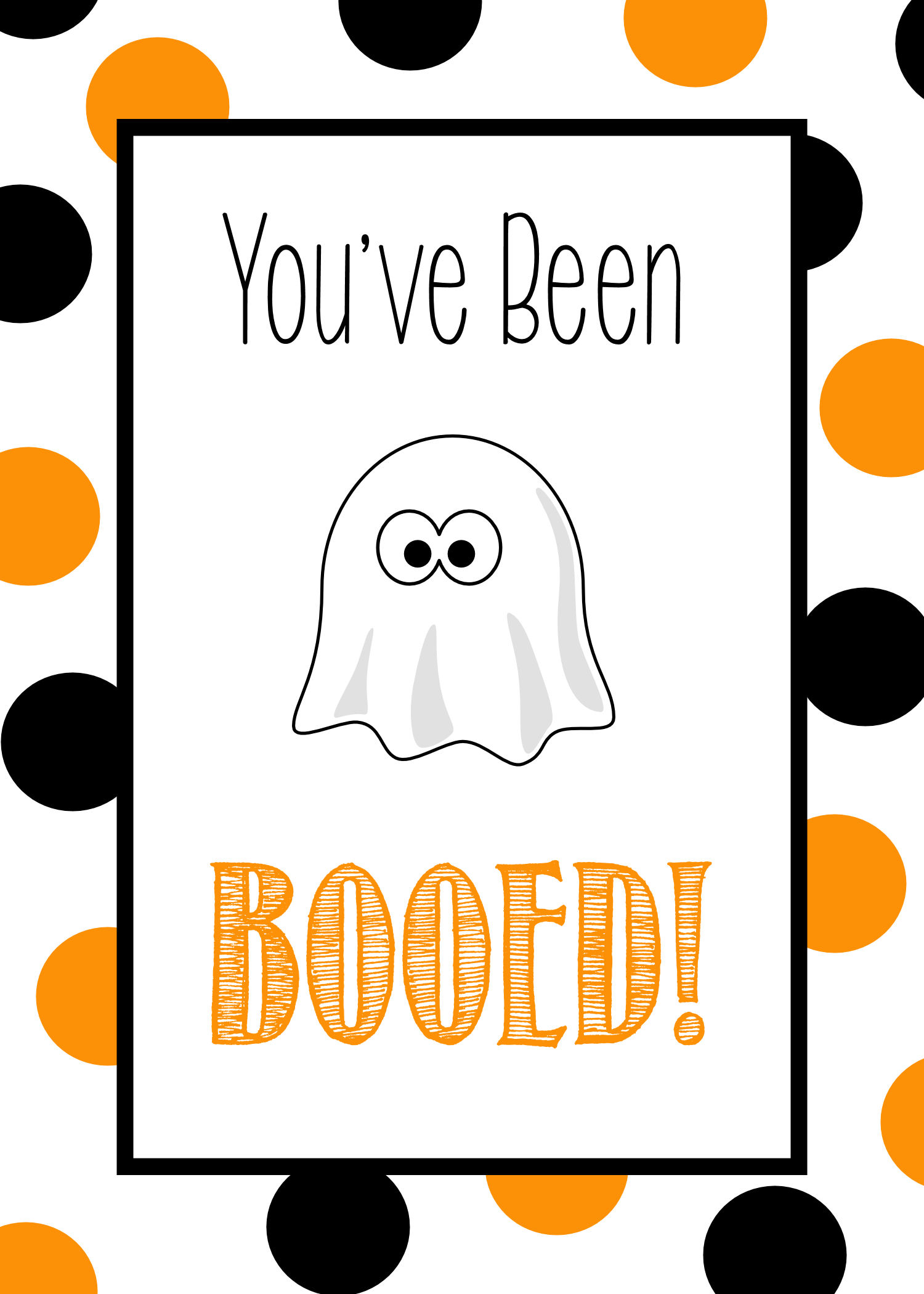 You've Been Booed - Cute Free Printable Tags & Halloween Gift Ideas - You Ve Been Booed Free Printable