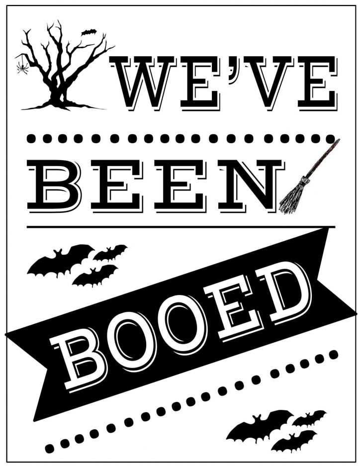 We Ve Been Booed Free Printable