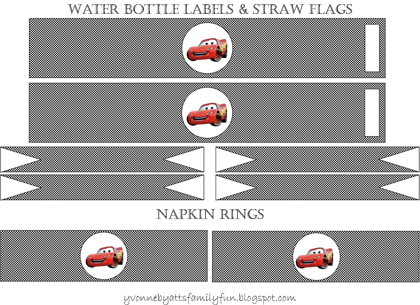 Yvonne Byatt's Family Fun: Disney Cars Party Printables - Free Printable Cars Food Labels