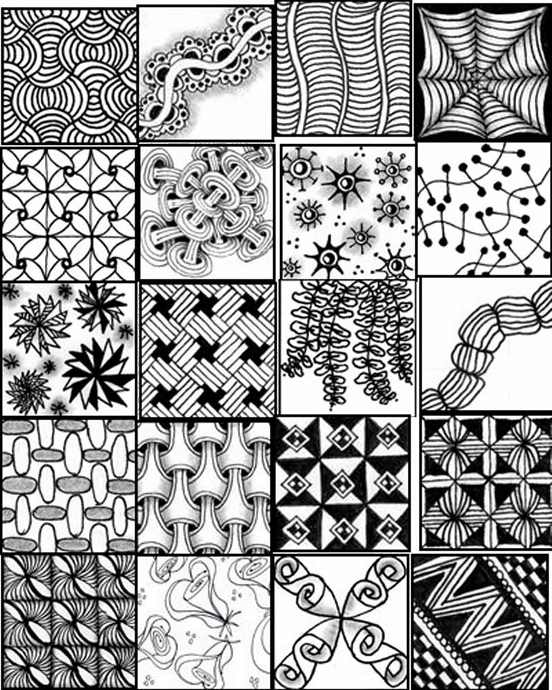 Zentangles Patterns Free Printables |  Printable Sheets To Serve - Free Printable Doodle Patterns