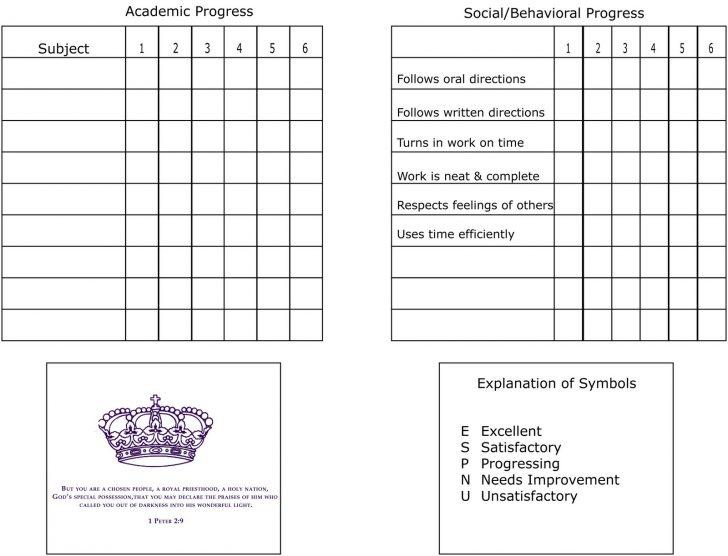 Free Printable Kindergarten Report Cards